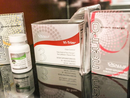 Some of the products sold at the ViSalus headquarters