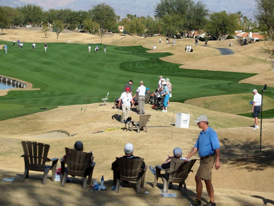 The TPC Stadium Course at PGA West in La Quinta on Thursday, January 21, 2016 during the 1st round of the 2016 CareerBuilder Challenge.