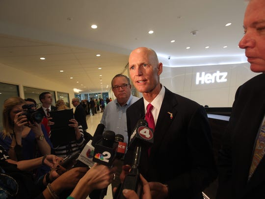 The Hertz Global corporation in Estero  had a headquarters celebration on Friday.  The building was opened to the media and dignitaries.  Florida Gov. Rick Scott was present and spoke as well.