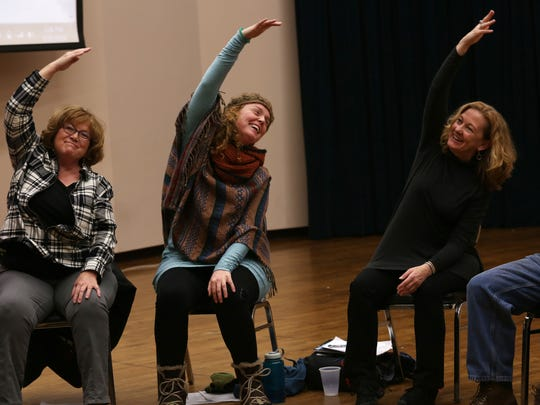 Stuart Pimsler Dance and Theater company in a workshop