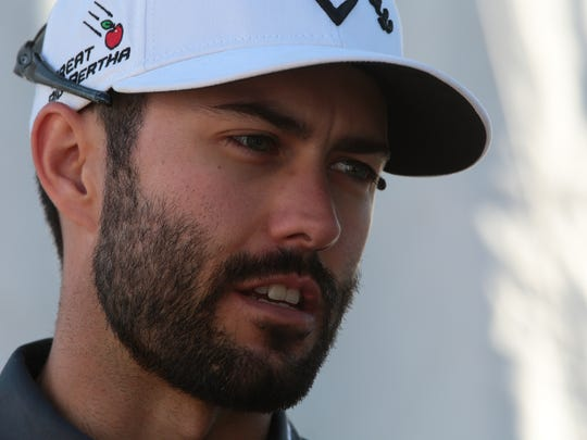 Canadian Adam Hadwin after the 1st round of the 2016 CareerBuilder Challenge.