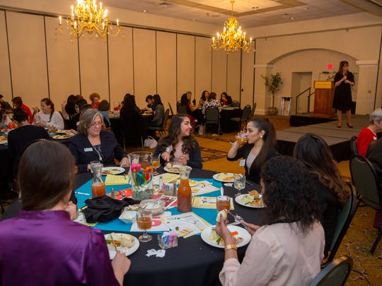 Approximately 60 young women gathered at the Hotel Encanto on Saturday to receive training and messages of empowerment from Soroptimist International of Las Cruces during the Soroptimist's Dream it, Be It Conference.