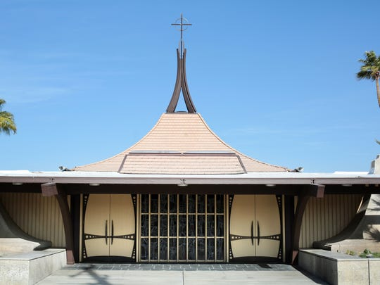 William Francis Cody designed St. Theresa Catholic Church in Palm Springs on January 15, 2016.