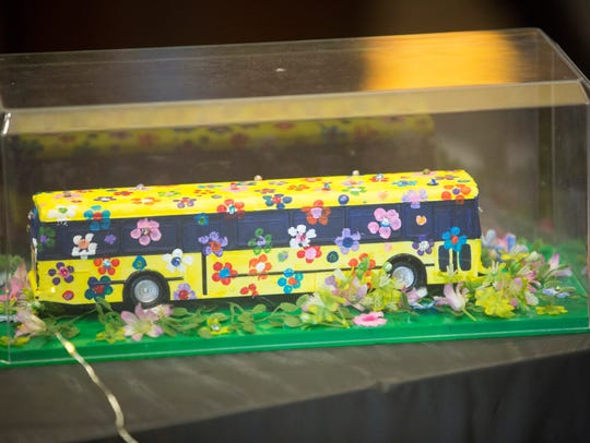 Decorated buses were part of the silent auction at a past Black History Month Kickoff event at Minnetrista.