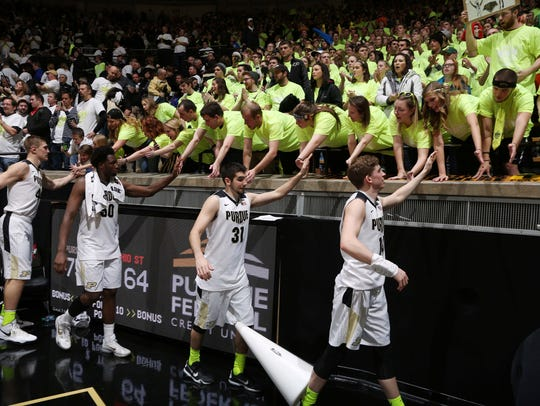 From left to right Purdue Boilermakers center Isaac