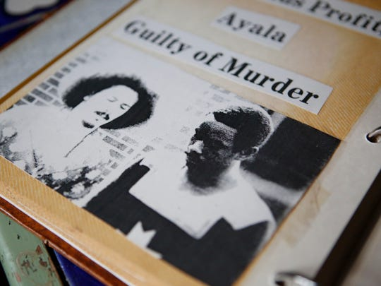 Jason Minter's press clippings of killers Samuel Ayala and Willie Profit.