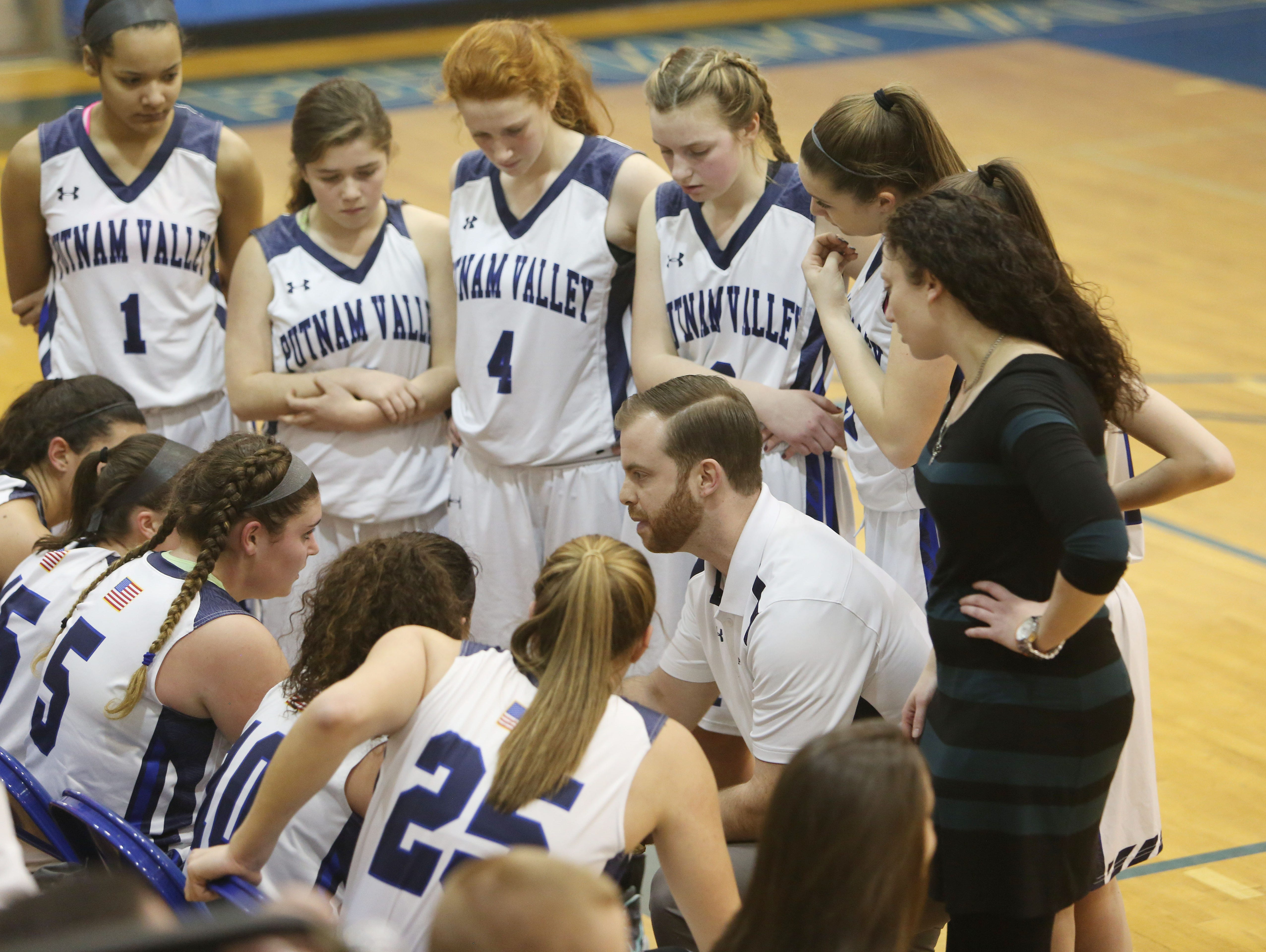 Putnam Valley defeated Pleasantville 43-33 in a girls playoff basketball game at Putnam Valley High School Feb. 17, 2016.