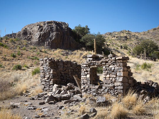 """The crumbling """"Rock House"""" at the Bureau of Land Management's Soledad Canyon Day Use Area."""
