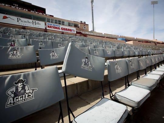 Aggie Memorial Stadium empty on March 4, 2016.