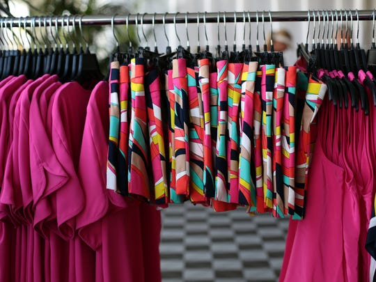 A display at the Trina Turk Trunk Show on Tuesday, March 15, 2016, during the BNP Paribas Open in Indian Wells.