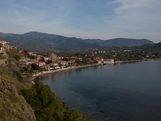 The shoreline and beaches in Mithymna, Greece. Concerns