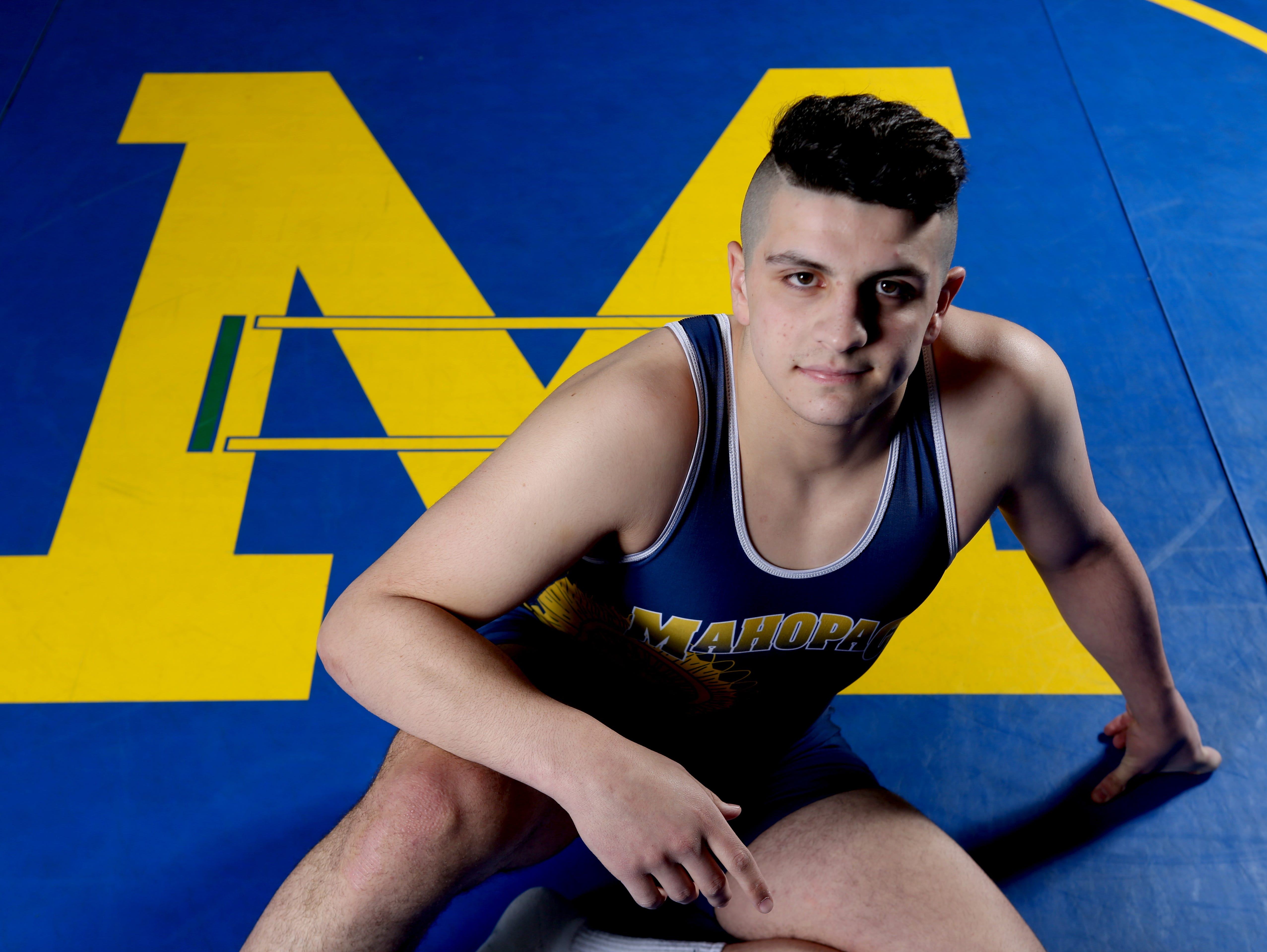 Mahopac senior Mike DiNardo, photographed April 7, 2016, is the Westchester/Putnam wrestler of the year.