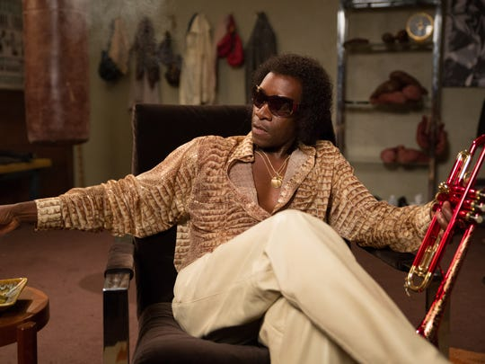 "Don Cheadle as Miles Davis in a scene from ""Miles Ahead."""