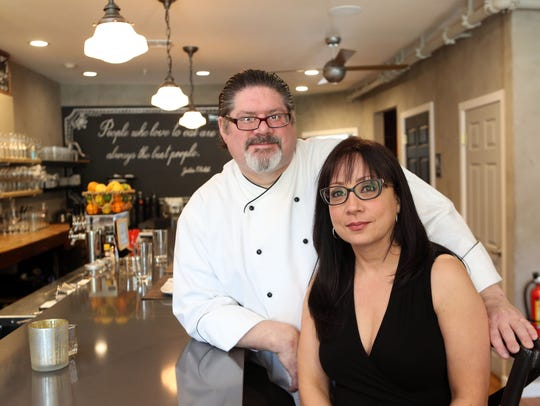 Chef Kevin Reilly and Maria Santini, owners of Roost