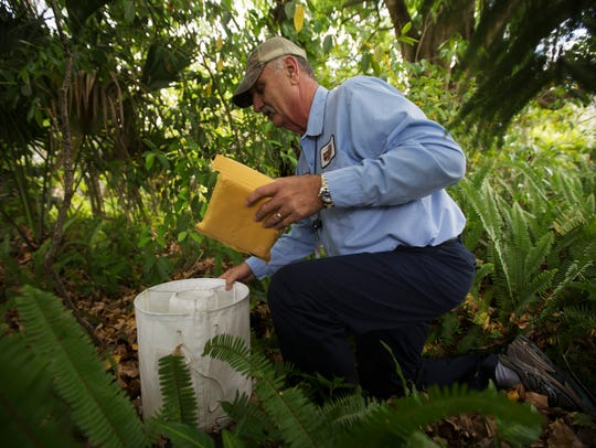 Tom Miller, an employee of the Lee County Mosquito