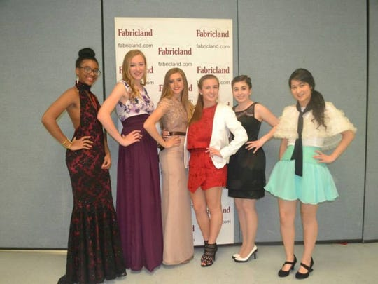 Winners of the 2015 Project Fabricland Fashion Show model their custom garments. The BERNINA-sponsored contest will return May 1 to North Plainfield High School.