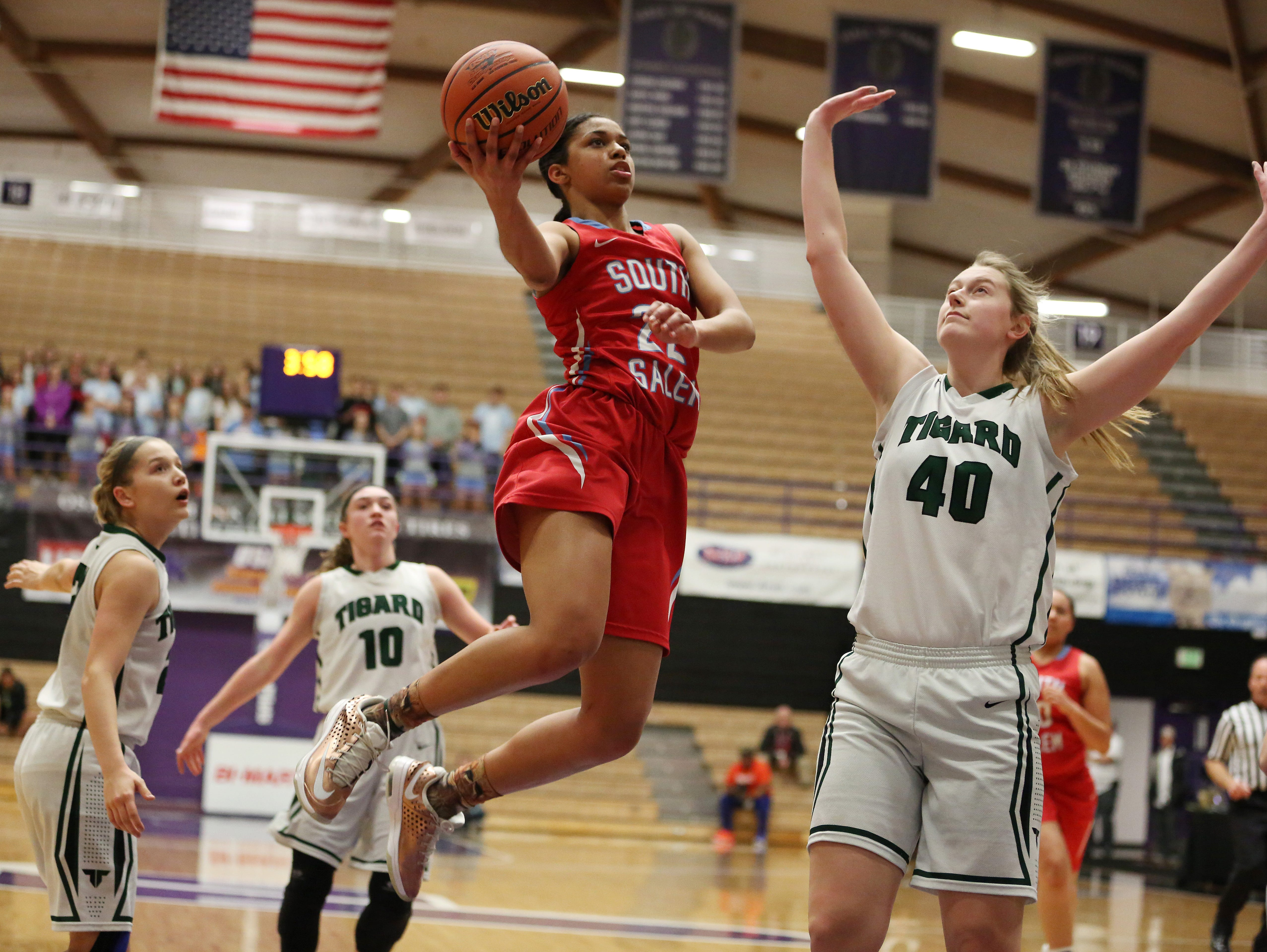 South Salem's Evina Westbrook helped lead the Saxons to a repeat state championship and was named Class 6A girls basketball player of the year.