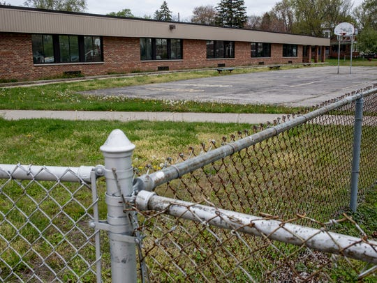 The former Algonac Elementary School sits vacant Wednesday,