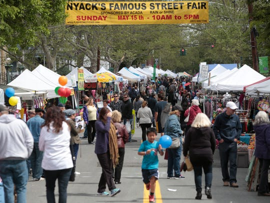 Thousands of people came out to enjoy the Nyack Famous