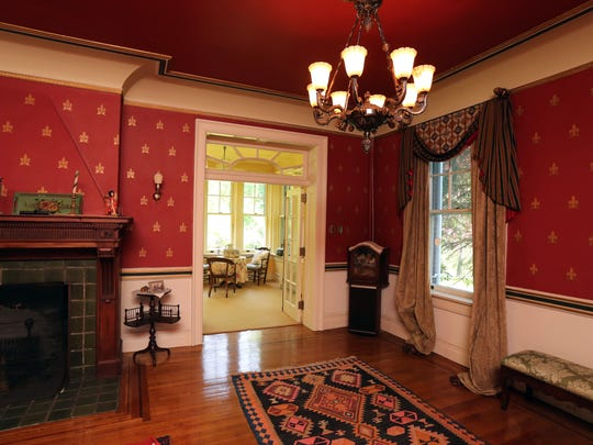A large parlor in this 1909 Georgian home for sale in Blauvelt, May 19, 2016.