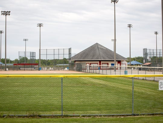 The Muncie SportsPlex softball-and-soccer complex on