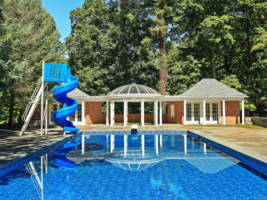 The pool at Glencliff, a $23 million estate on the market in Mt. KIsco