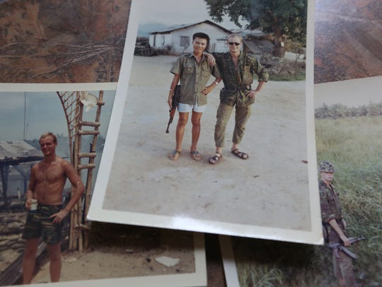 Old photos of Dave Mrotek during his service in the
