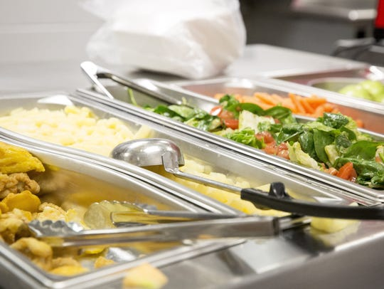 School lunch options at Central High School are shown