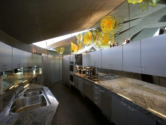 The kitchen inside the Elrod House. Photo taken on Thursday, May 2, 2016 in Palm Springs.