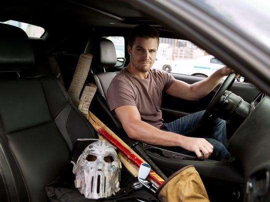 "Stephen Amell as Casey Jones in ""Teenage Mutant Ninja"