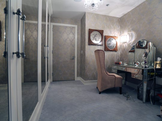 The dressing room in the penthouse owned by David and