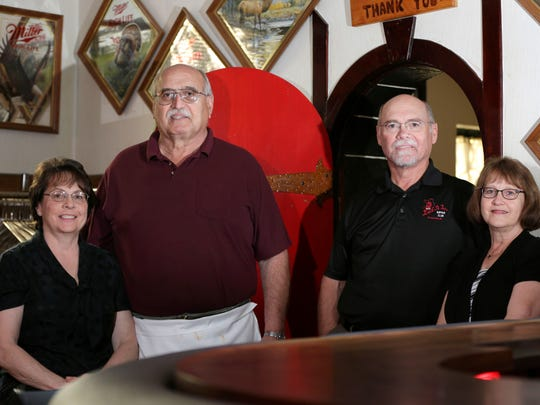 The owners of the Buck-A-Neer Supper Club, photographed