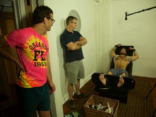 Director David Farrier witnesses Richard Ivey film