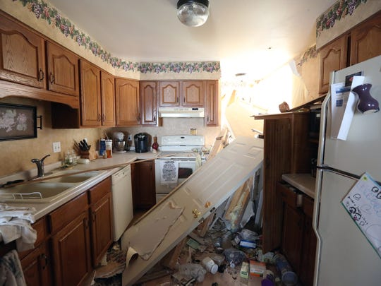 The kitchen of 4120 Ray Street was damaged from a 27-year-old