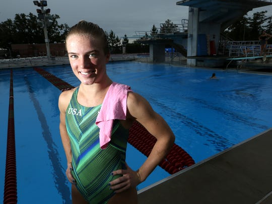 Former FSU diver Katrina Young practices at the Morcom