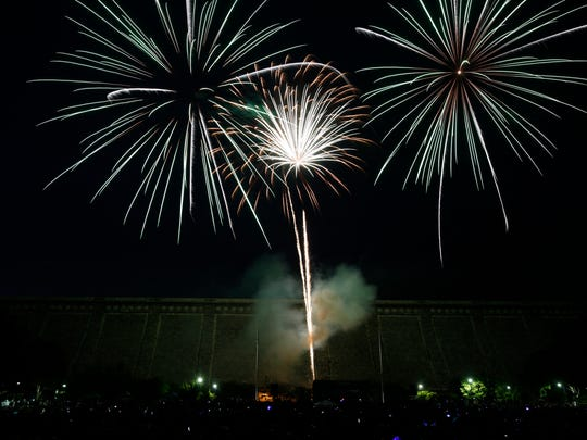 Thousands came out to enjoy the 4th of July fireworks display in Kensico Dam Plaza in Valhalla on July 4, 2016.