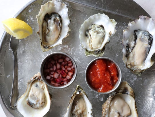 A selection of oysters at Ocean House in Croton-On-Hudson.