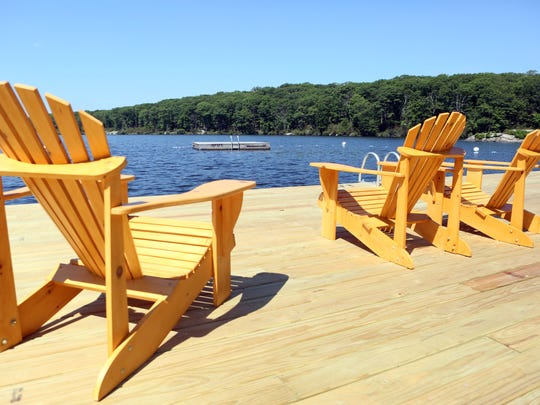 A managed waterfront for swimming at the Harriman Outdoor Center in Harriman State Park July 6, 2016 in Haverstraw. The Appalachian Mountain Club's newest center offers cabins, lodges, spaces for tents, swimming, kayaking and canoeing at Breakneck Pond and a dining facility.