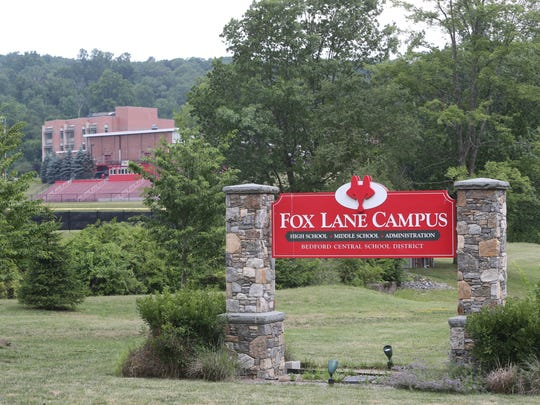 The entrance to the Fox Lane Campus of the Bedford Central School District, July 7, 2016.