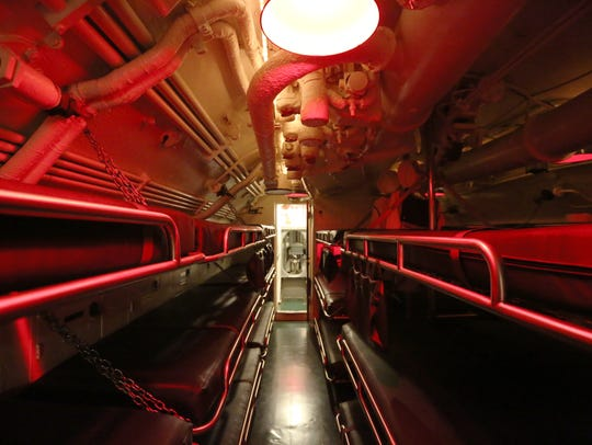 Inside of the USS Cobia on Friday, July 8.