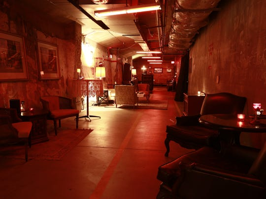 If the red bulb is turned on, this speakeasy is open for business at Melinda's Alley.