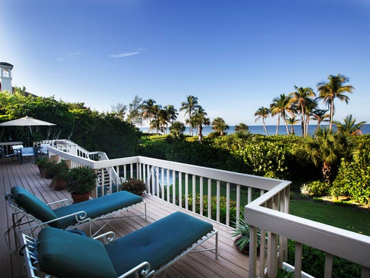 A view of the Gulf of Mexico can be seen from a home rented by Select Vacation Properties in Sanibel.  This home is off of West Gulf Drive and features a private path to the Gulf.