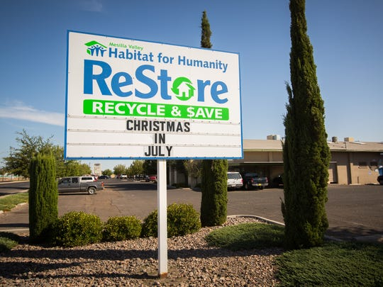Mesilla Valley's Habitat for Humanity ReStore thrift store at the intersection of South Valley Dr. and South Main St., Wednesday, July 20, 2016.