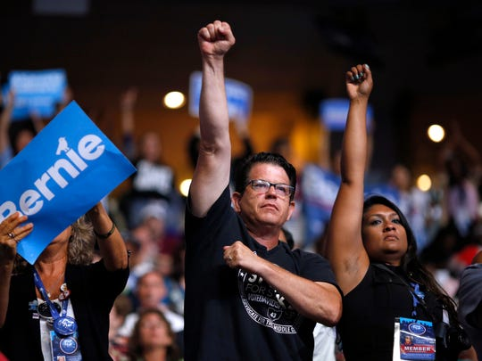 Some Bernie Sanders delegates objected as Hillary Clinton won the Democratic presidential nomination.