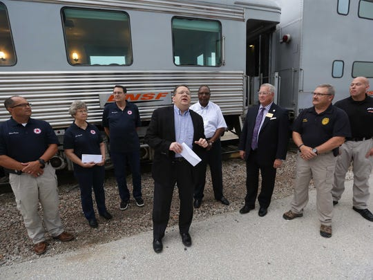 The BNSF railroad invited area first responders and