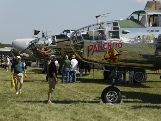 Panchito the B-25J is on display in the warbird section