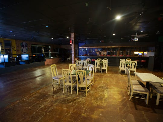 The inside area of Club Blu. The club's parking lot was the scene of a mass shooting that killed two and injured 17.