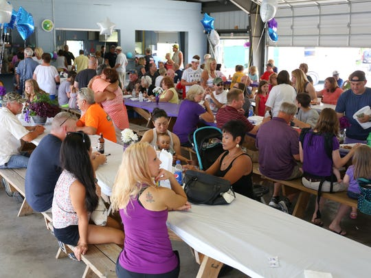The AMVETS Post 224 pavilion was filled Sunday afternoon for a fundraiser to benefit the family of Penny Guyer, who is battling cancer.