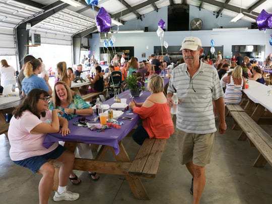 The AMVETS Post 224 pavilion was filled Sunday afternoon