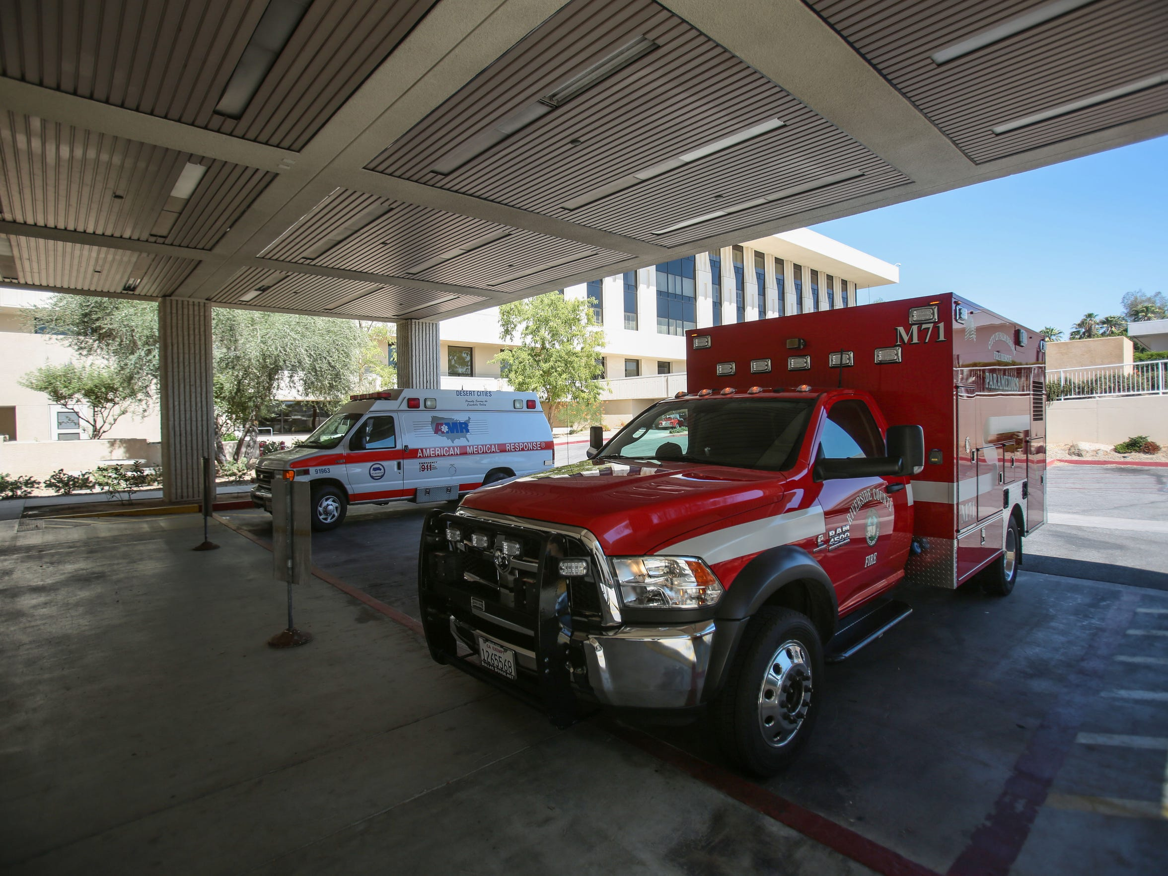 The ambulance entrance at Eisenhower Medical Center  on Friday, July 22, 2016 in Rancho Mirage.